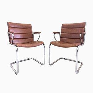 Chaises de Bureau Vintage, Italie, 1970s, Set de 2