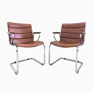 Vintage Italian Desk Chairs, 1970s, Set of 2