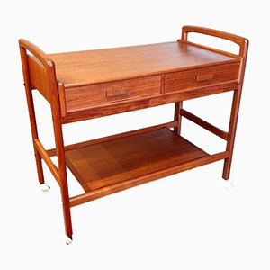 Teak Side Table Trolley, 1950s