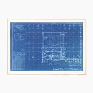 Blueprint of 4000 N. Charles Baltimore by Mies van der Rohe, 1964