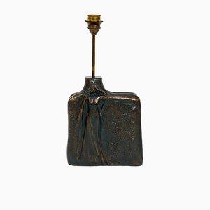 Lámpara de mesa de bronce, años 60