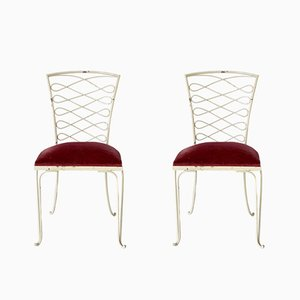 French Iron Chairs by René Prou, 1930s, Set of 2