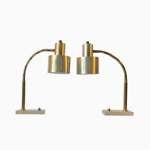 Dänische Tischlampen aus Messing von Vitrika, 1960er, 2er Set