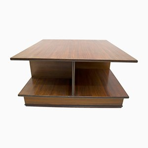 Mid-Century Italian Modern Rosewood Coffee Table by F.lli Saporiti, 1960s