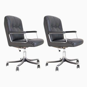 Swivel Chairs by Osvaldo Borsani for Tecno, 1970s, Set of 2