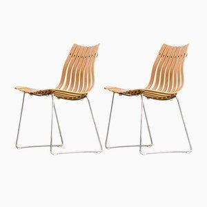Scandia Stühle von Hans Brattrud für Hove Møbler, 1950er, 2er Set