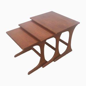 Tavolini ad incastro vintage, anni '60