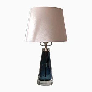 Orrefors Blue Table Lamp RD-1566 by Carl Fagerlund