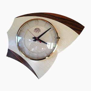 Vintage Formica Wall Clock from REG, 1960s