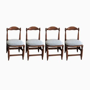 Vintage Dining Chairs by Guillerme et Chambron for Votre Maison, 1965, Set of 4