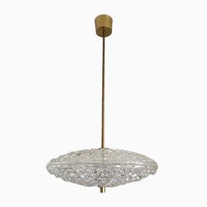 Flying Saucer Chandelier by Carl Fagerlund for Orrefors, 1960s