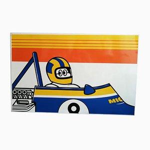 Cartel publicitario de Michelin vintage. Juego de 3