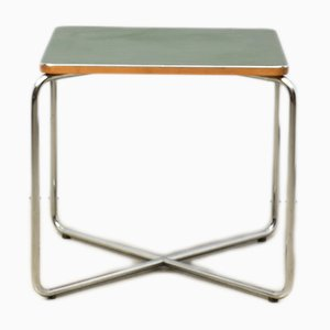 Side Table with Green Linoleum Surface by Marcel Breuer for Bigla, 1930s