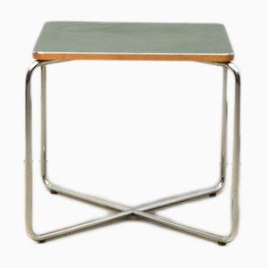 Tavolino in linoleum verde di Marcel Breuer per Bigla, anni '30