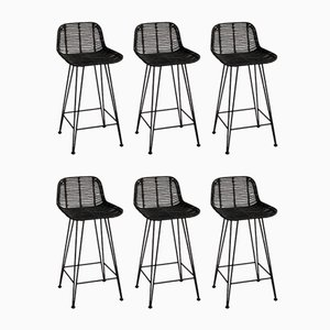Vintage High Stools, 1980s, Set of 6