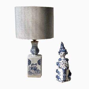 Lampe de Bureau et Figurine Vintage par Björn Wiinblad, 1986