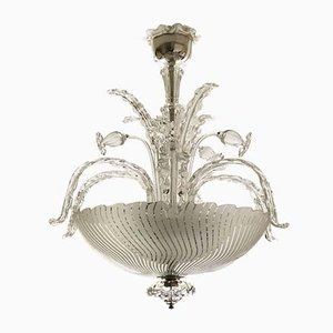 Art Nouveau Style Chandelier by Fritz Kurz for Orrefors, 1940s