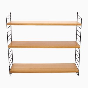 Vintage Ash Wood Wall Shelf by Kajsa & Nisse Strinning for String