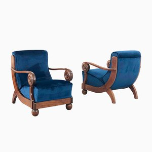 Art Deco Armchairs by Maxime Old, 1930s, Set of 2