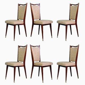 Chaises de Salle à Manger Mid-Century par Maison Regain, France, 1960s, Set de 6