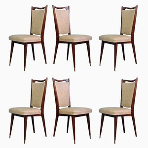 Mid-Century French Dining Chairs by Maison Regain, 1960s, Set of 6
