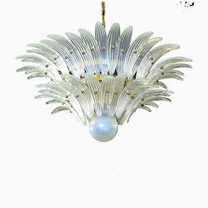 Lámpara de araña Palmette de cristal de Murano, 1978