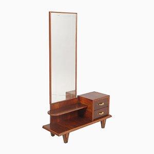 Mobiletto Art Déco in legno di noce, anni '20