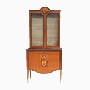 Italian Walnut and Rosewood Showcase, 1960s