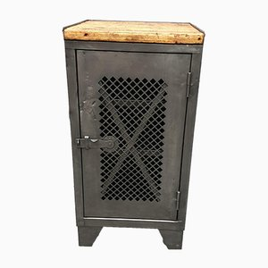 Small Industrial Metal Cabinet, 1950s