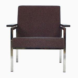 Sedia nr. 30 in metallo cromato di Gijs van der Sluis, anni '60