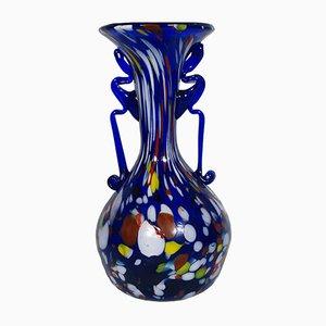 Vase Carnivale avec Murrina Polychrome et Aventurine de Fratelli Toso, 1920s