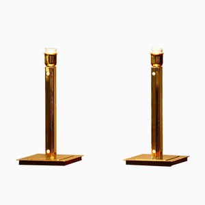 Cubist Art Deco Style Table Lamps from Örsjo, 1960s, Set of 2