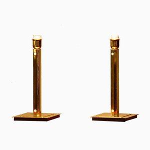 Lámparas de mesa estilo Art Déco cubistas de Örsjo, años 60. Juego de 2