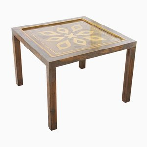 Tavolino inciso di Willy Daro, anni '70