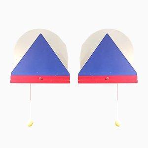 Lampade da parete postmoderne di Ikea, anni '80, set di 2