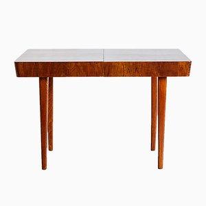 Tavolo da pranzo Art Déco allungabile in legno di noce di Jindřich Halabala per UP Závody, anni '30