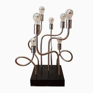 Lámpara escultural vintage con siete brazos, años 70