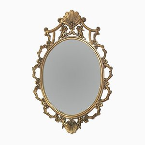 Specchio Art Nouveau antico veneziano in bronzo dorato