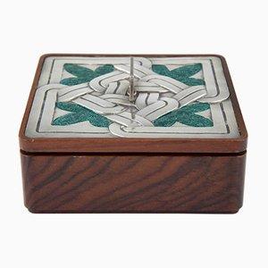 Emaillierte Kiste aus Sterlingsilber & Holz von Ottaviani, 1960er