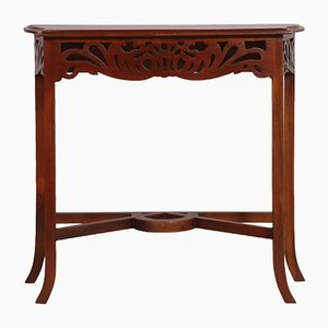 Art Nouveau Carved Wood Console, 1910s