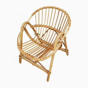 Chaise pour Enfant Vintage en Bambou et Rotin, 1960s