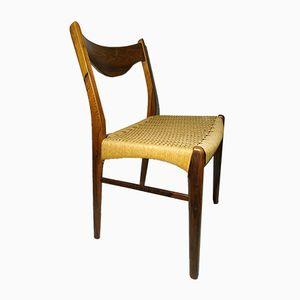 Skandinavischer GS60 Stuhl mit geflochtenem Sitz von Arne Wahl Iversen für Glyngøre Stolefabrik, 1960er