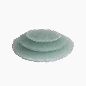 Recycled Green Glass Platter Set by Sophie Rowley