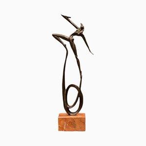 Scultura vintage in bronzo di Alberto Ricci