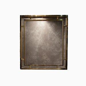 Specchio vintage in ottone di Romeo Rega