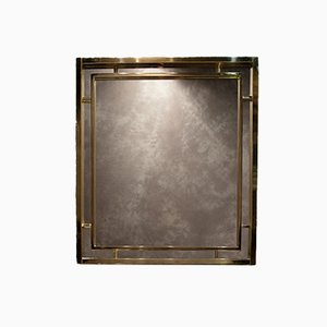 Vintage Brass Mirror by Romeo Rega