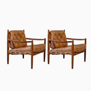 Vintage Läckö Sessel von Ingemar Thillmark für OPE, 1960er, 2er Set