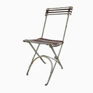 Antiker klappbarer Gartenstuhl aus Gusseisen