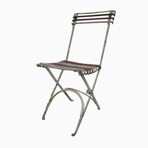 Antique Forged Iron Folding Garden Chair