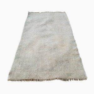 Alfombra turca pequeña de lana, años 70